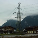 "Strommast Österreich  ""Ugly vs. beautiful""  This power pole supplies a small village in the Alps with energy.  It does not look very nice and it would be a great opportunity to renew it, to make it look better and to make it fit better into the overall picture of the village.  It would have also have some environmentally friendly aspects because it would be rebuild and so it will work with the highest technology, and the risk of failures is much lower. And of course it would look better, but it would take a lot of money and years of work."